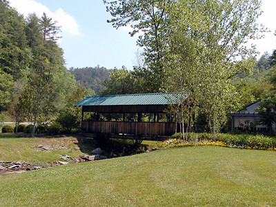 Covered bridge at The Lily Barn<br /> Townsend, TN