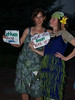 Annie & Christi in cabbage & bean dresses, Frist Friday