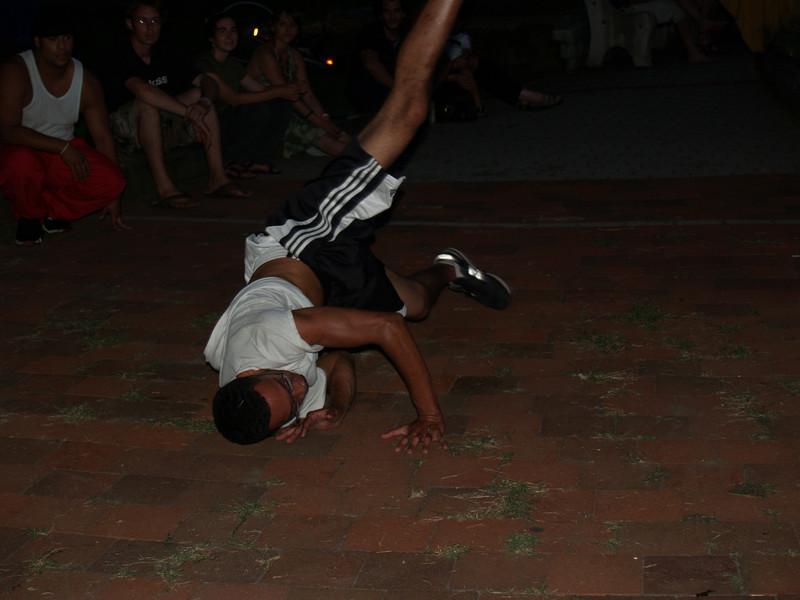 Breakdancer at Maze Garden