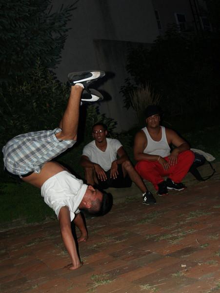Breakdancer at the Maze Garden