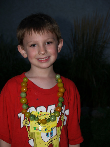 Jack with cherry tomato necklace