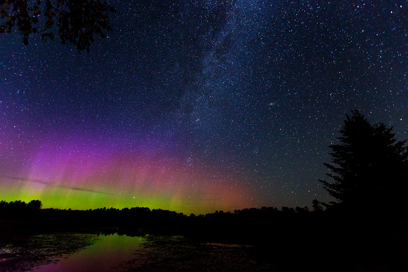 The Milky Way and the Northern Lights