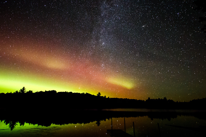 The Northern Lights Meet the Milky Way