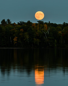 Super Moon and It's Reflection