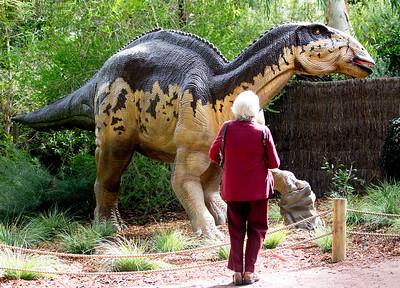 Carol!  Don't get eaten by the dinosaur.