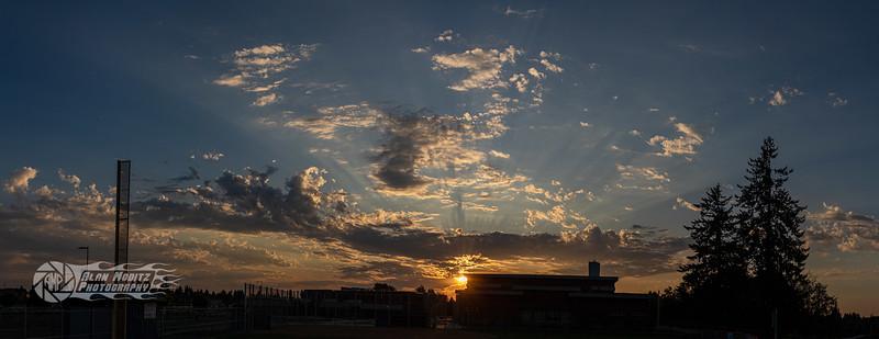 Sunset before school
