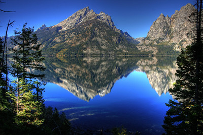 The reflection of the Tetons off of Jenny Lake. Taken Sept, 2009.  Print size 5 x 7 $14.00 USD 8 x 10 $20.00 USD 8 x 12 $20.00 USD 11 x 14 $28.00 USD 12 x 18 $35.00 USD 16 x 20 $50.00 USD