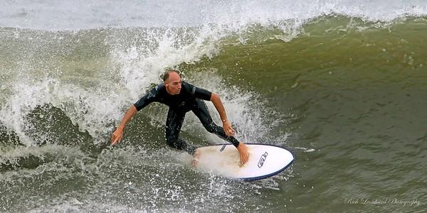 Surfer at Long Beach , NY.