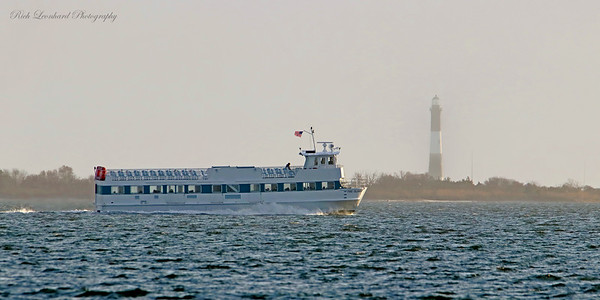 Ferry Boat and Fire Island Lighthouse.