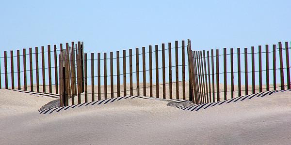 Erosion control fence at Fire Island
