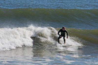 Surfer enjoying the waves at Long Beach LI.