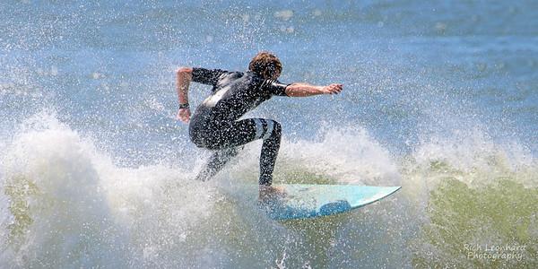 Surfer at Long Beach, NY.