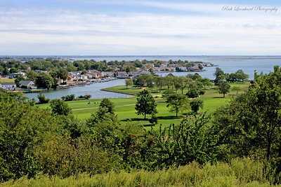 View of shore from Norman J. Levy Park and Preserve in Merrick,NY.