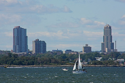 New Rochelle as viewed from Sands Point