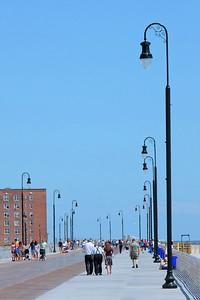 Long Beach Boardwalk after reconstruction post Superstorm Sandy.