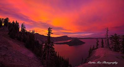 Crater Lake Sunset.