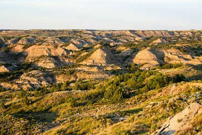 View of Painted Canyon from the visitor center.