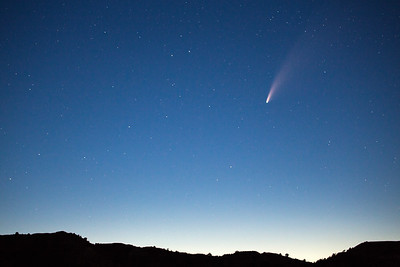 Neowise Comet photographed from the South Unit on July 16, 2020.