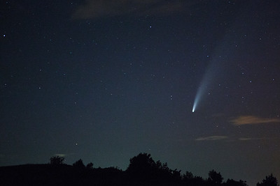 Neowise Comet photographed from the North Unit on July 14, 2020.