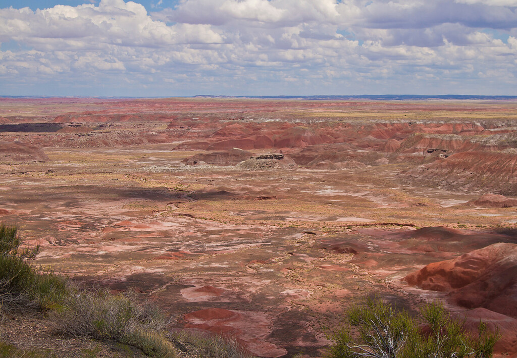 It really reminds me of the crater at Haleakala.  Painted Desert National Park, AZ