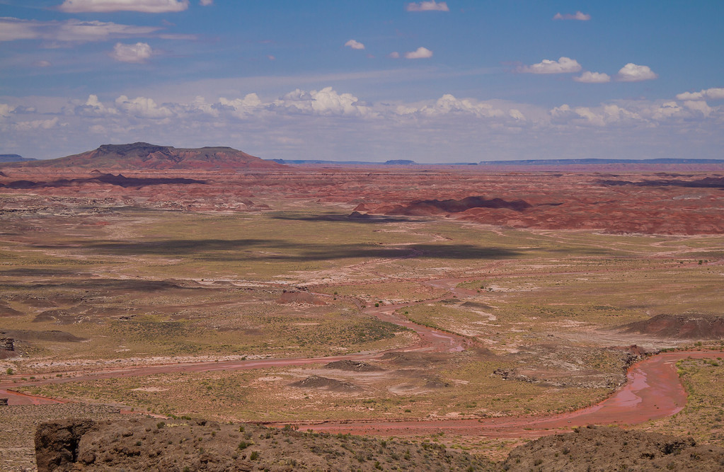 An actual river in the desert.  Painted Desert National Park, AZ