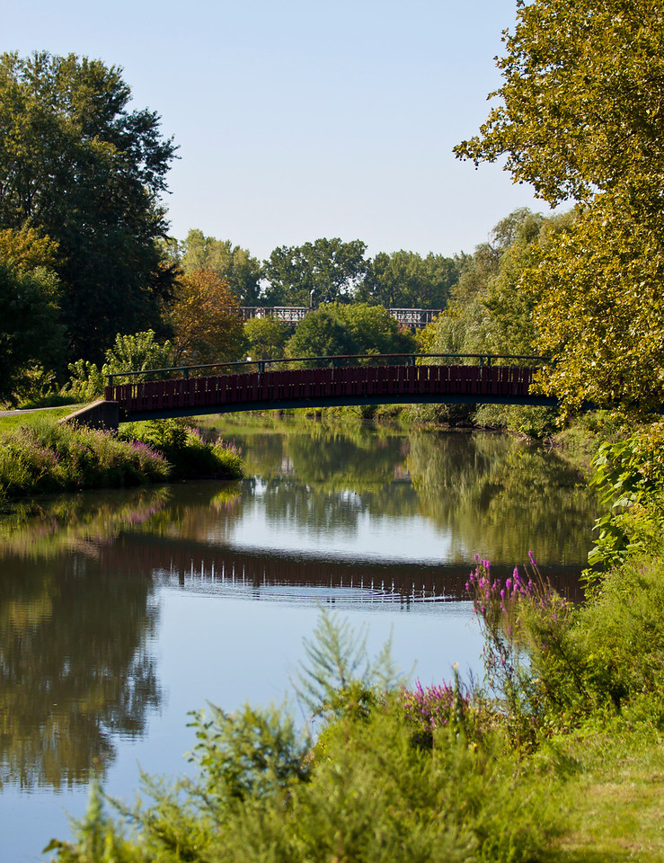 This picture is rather post card like, the final days of summer, Teaneck, NJ