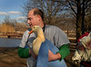 Dr. Aaron Vine. CVA Three ducks rehabed. January 29th, 2007. Release at Mill Pond Park. Photo by Kathy Leistner