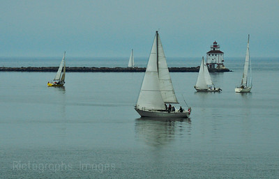 Sail Boats in Thunder Bay Harbour