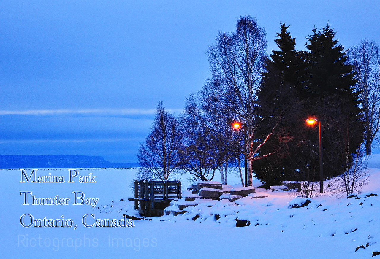 Winter at Thunder Bay's Marina Park