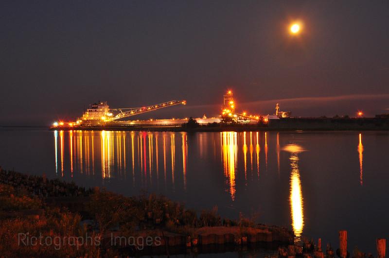 Freighter Unloading Coal