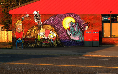 Art Mural at Mac's Mart, Simpson Street, Thunder Bay, Ontario, Canada