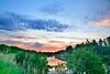 Summer Sun Set, 2016, MacIntyre River