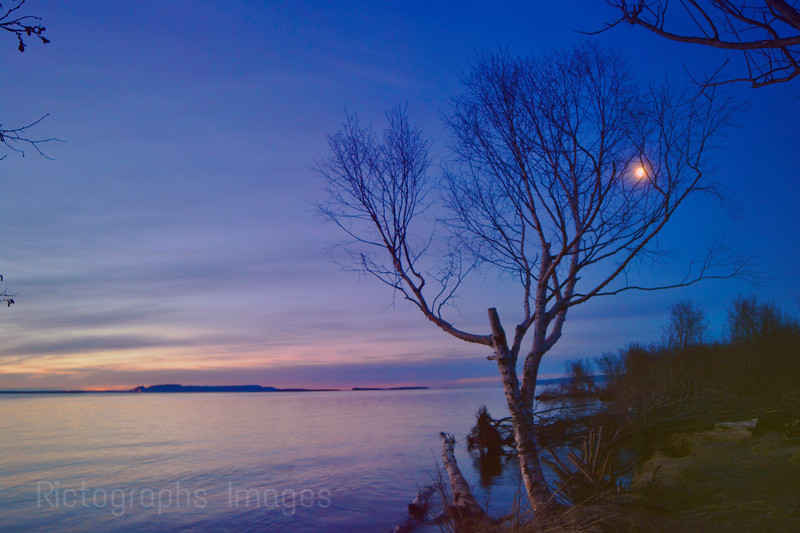 The Moon & Sunrise, April 2016