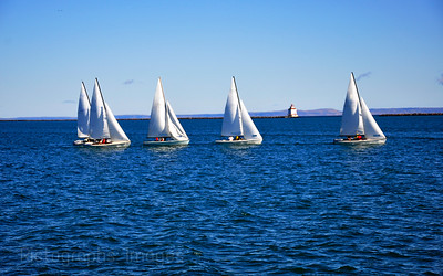 Sailing in Thunder Bay Harbor