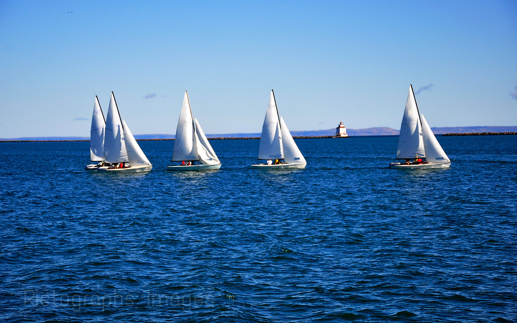 Sailing in Thunder Bay Harbour