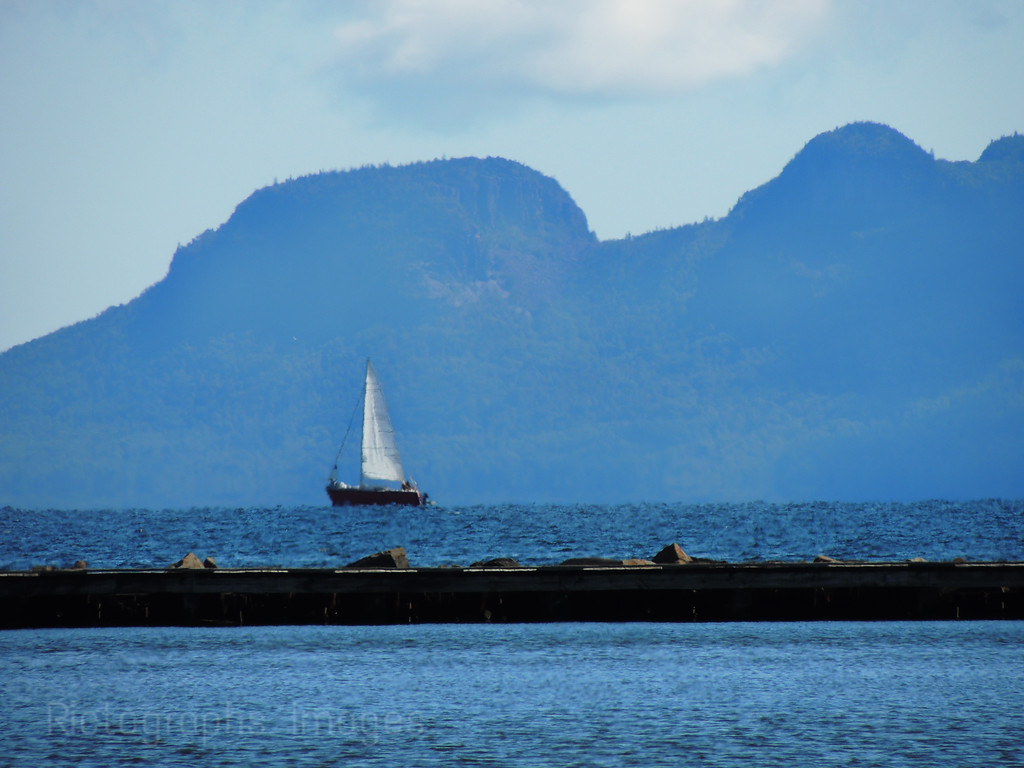 Sailing Lake Superior, Thunder Bay, Ontario, Canada