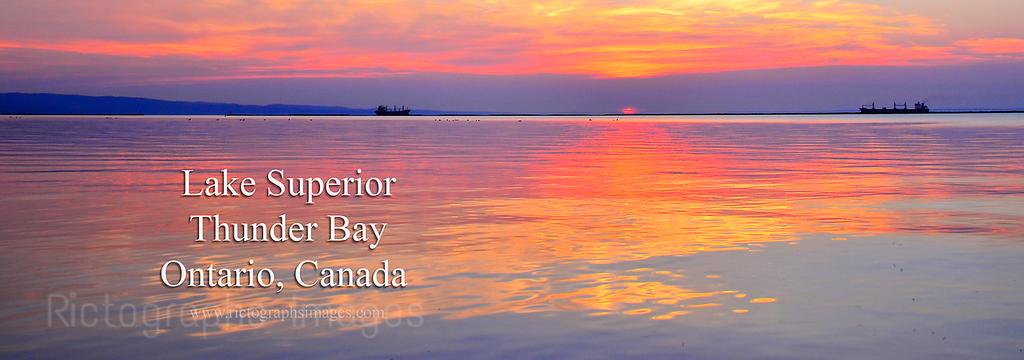 A Lake Superior Sunrise, Summer 2017, Thunder Bay, Ontario, Canada