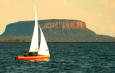 Sailing Lake Superior, Thunder Bay, Ontario, Canada