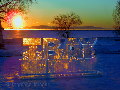 #50th Anniversary Ice Sign, TBay, Great Giant Morning, February 2020
