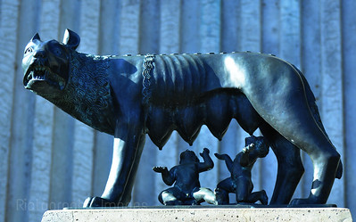 Romulus, Remus, And The She Wolf. May Be Seen At International Friendship Gardens In Thunder Bay, Ontario, Canada