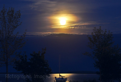 Moon Over Thunder Bay Harbour