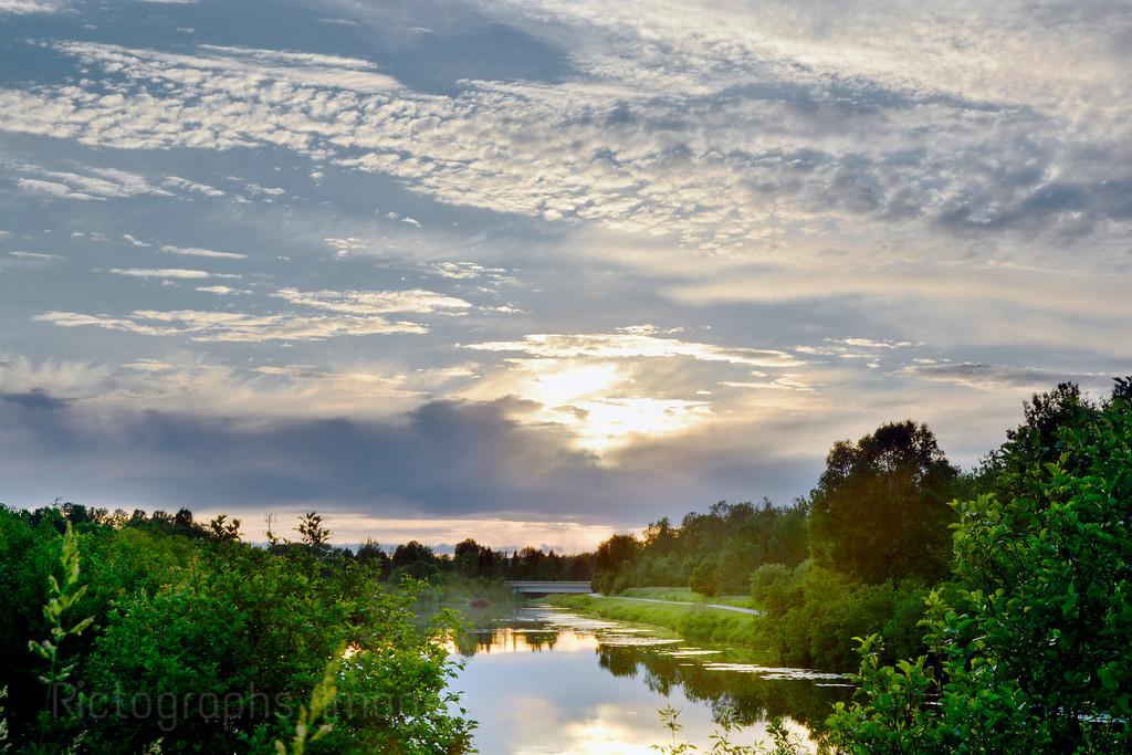 Sun Setting On The MacIntyre River
