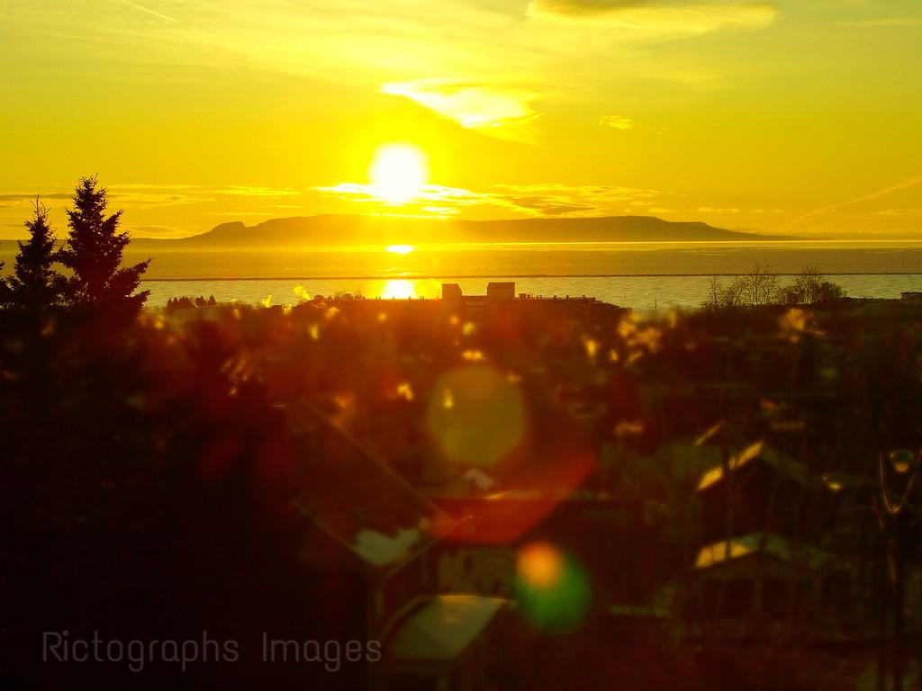 Morning, Sunrise, Lake Superior, Thunder Bay, Ontario, Canada