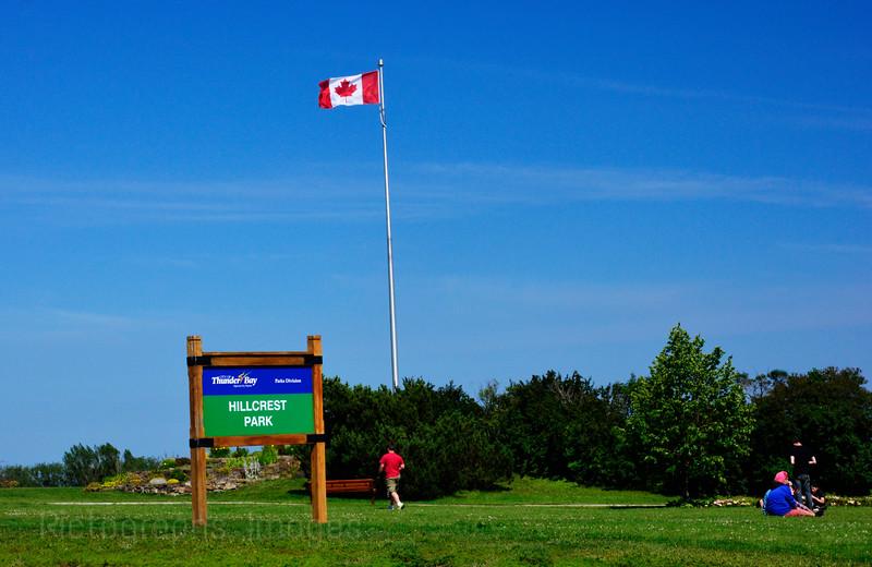 Flag Shot, Hillcrest Park, Thunder Bay, Ontario, Canada