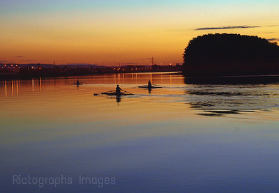 Rowers, Rowing On The Kaministiquia River, Thunder Bay, Ontario, Canada