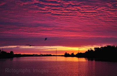 Sunrise on the Kam River.