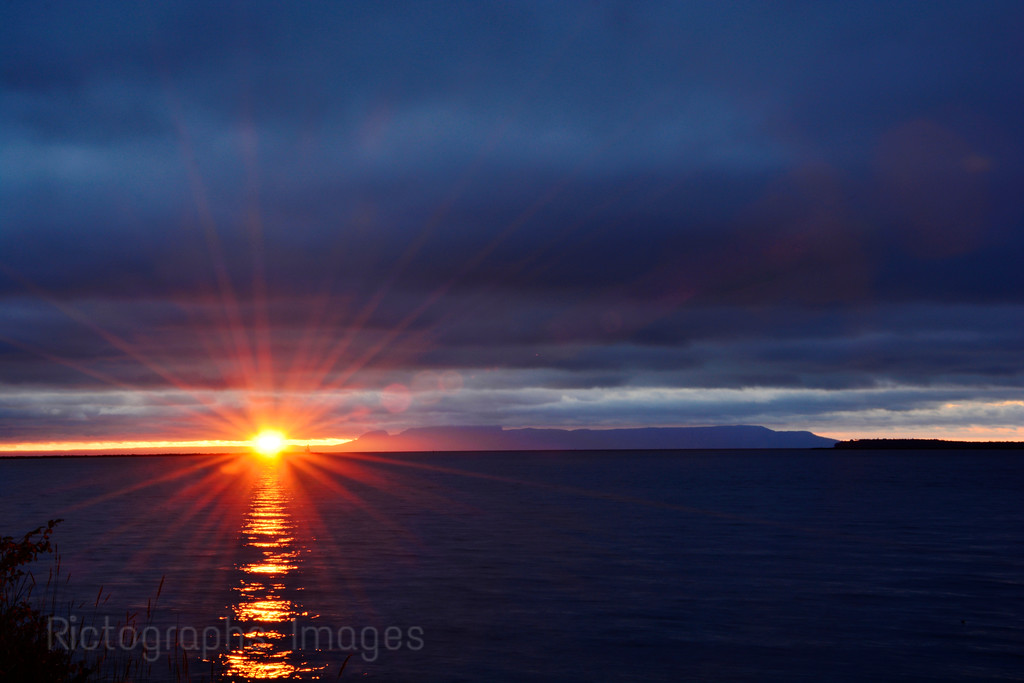 Lake Superior Sun Rise, Rictographs Images