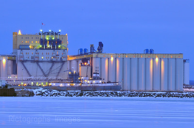 Grain Elevator with Ship