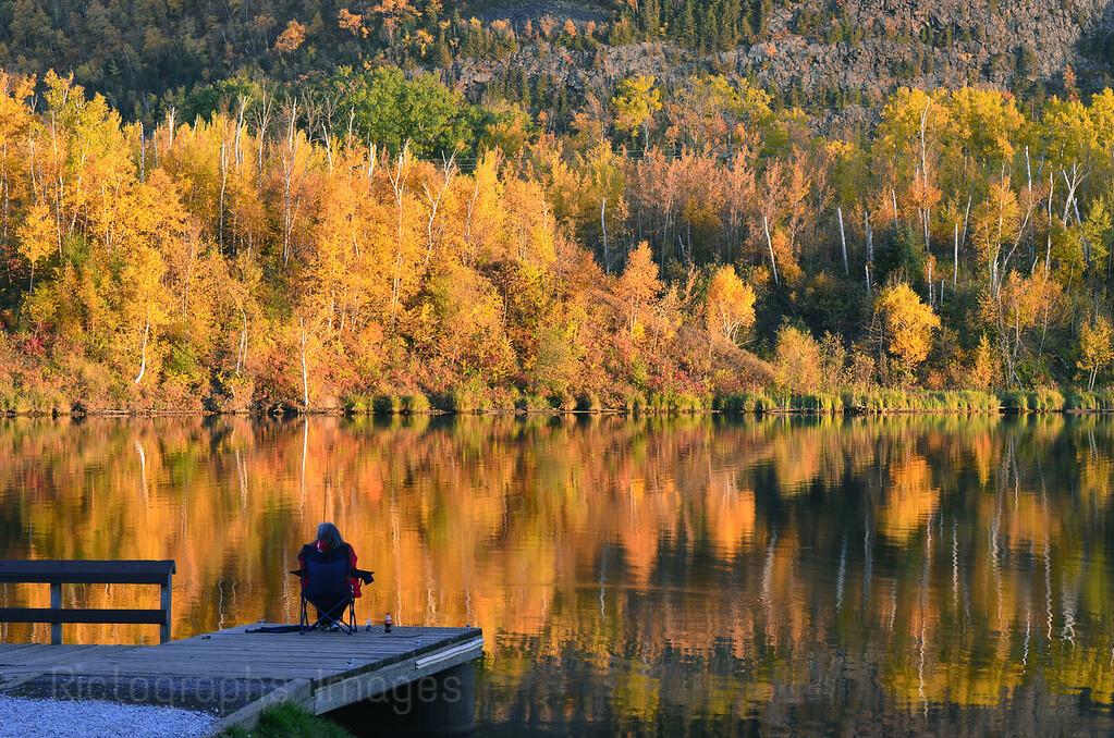 Enjoying The Scenery, Fishing The River, Thunder Bay, Ontario, Canada