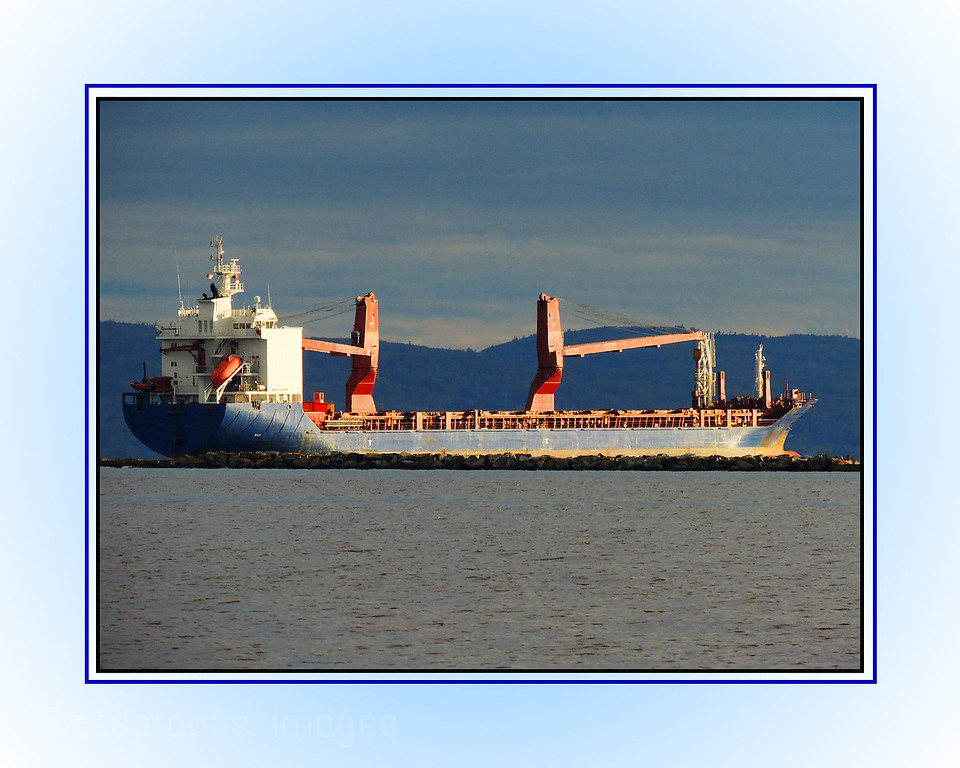 A Freighter Shipping Cargo On The Great Lake Superior, Rictographs Images